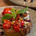 Goat cheese bruschetta with tomatoes / Urban bistro / Bratislava, 2015