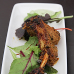 Fennel infused lamb chop with mint chutney / Benares (Taste of London 2013)