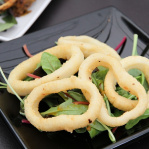 Squid rings with passion fruit chutney / Benares (Taste of London 2013)