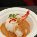 Grilled tiger prawns with panaeng sauce and jasmine rice / Patara (Taste of London 2013)