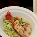 Grilled tiger prawns in spicy lemongrass and lime dressing / Mango Tree (Taste of London 2013)