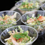 Shrimp coctail, celeriac and pink peppercorns / Savoy Grill (Taste of London 2013)