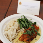 Chargrilled chicken breast with fenugreek crust, morel korma / The Cinnamon Club (Taste of London 2013)