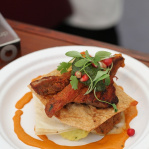 Mumbai mille feuille of spring lamb / The Cinnamon Club (Taste of London 2013)