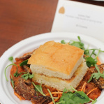 Bombay spiced vegetables with truffled pal / The Cinnamon Club (Taste of London 2013)