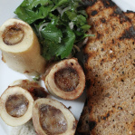 Roast Bone Marrow & Parsley Salad (St. John, Londýn 2013)