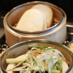 Grandmom's Steamed Beef Shank Buns with Spicy Mayo / Takashi (New York, 2014)