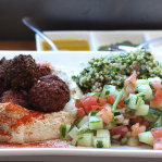 Mixed Falafel Platter / Taïm falafel & smoothie bar / New York, 2014